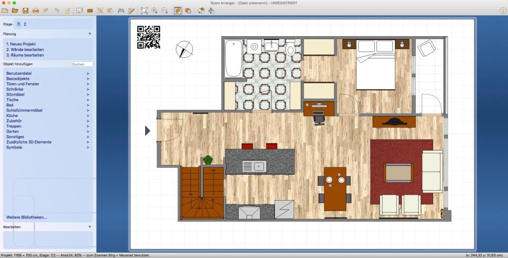 Screenshot 1 - Room Arranger (Mac)