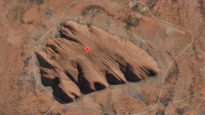 Bei Mutijulu (Australien) ©Screenshot / Google