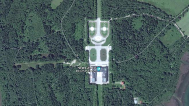 Neues Schloss Herrenchiemsee ©Screenshot / Google
