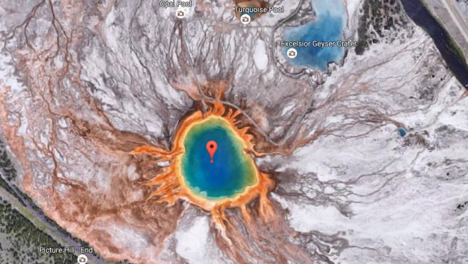 Yellowstone-Nationalpark (Wyoming) ©Screenshot / Google
