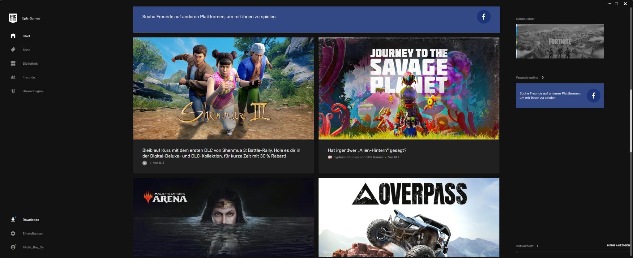 Screenshot 1 - Epic Games Launcher
