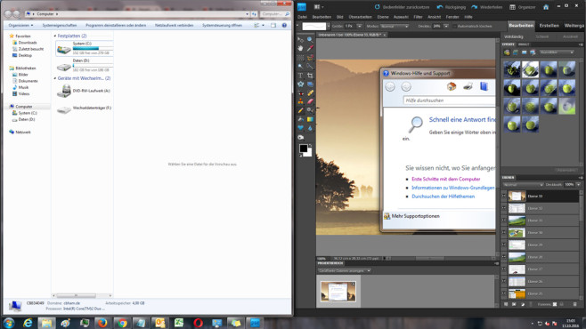 Aero Snap ab Windows 7 ©COMPUTER BILD