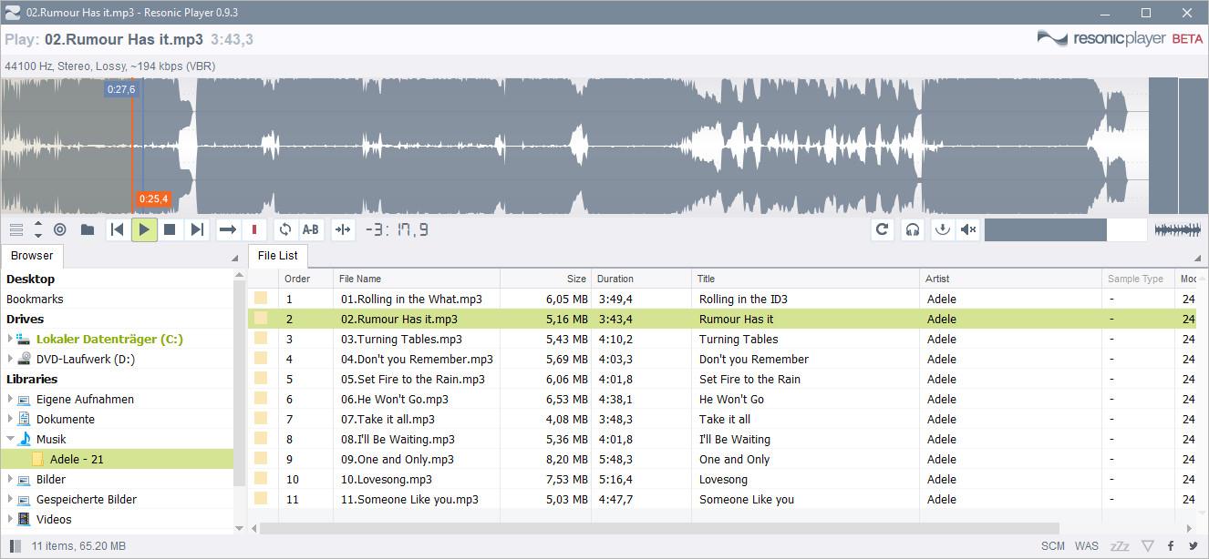 Screenshot 1 - Resonic Player