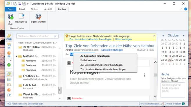Eingestampft: Windows Live Mail 2012 ©COMPUTER BILD