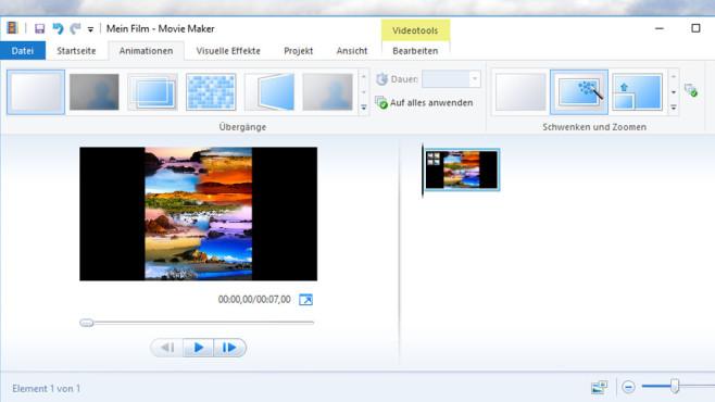 Eingestampft: Windows Movie Maker 2012 ©COMPUTER BILD