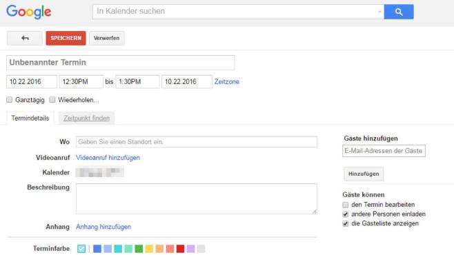 Google Kalender (Google Calendar) ©COMPUTER BILD
