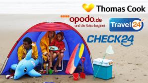 Online-Reise-Anbieter im Test©Thomas Cook Touristik GmbH, Opodo Ltd, Travel24.com AG, CHECK24 Vergleichsportal GmbH, Peter Cade/ Getty images