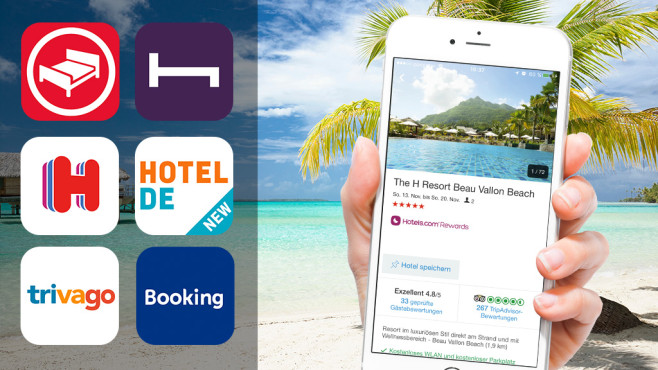 Hotelsuche-Apps im Test©istock.com/Onfokus, Trinette Reed/gettyimages, Apple
