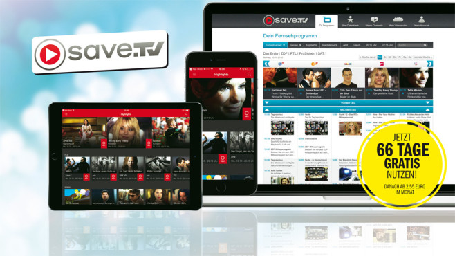Save.TV: Online-Recorder 66 Tage lang gratis nutzen©Save.TV