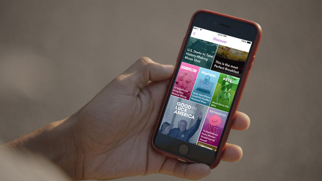 Apple iPhone mit der Snapchat-App©Snapchat