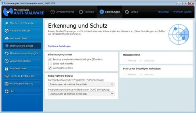 Malwarebytes Anti-Malware Anleitung