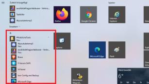 Windows 10: Startmenü erweitern um neue Programme©COMPUTER BILD