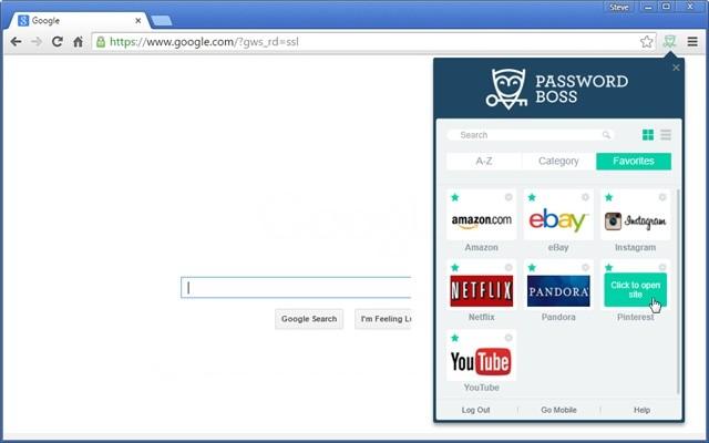Screenshot 1 - Password Boss für Chrome