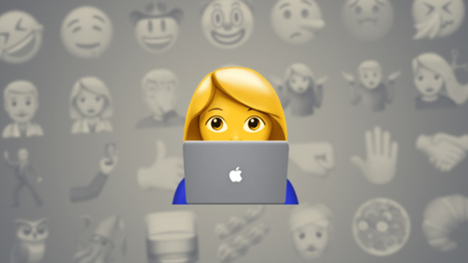 Frau am Laptop © Emojipedia