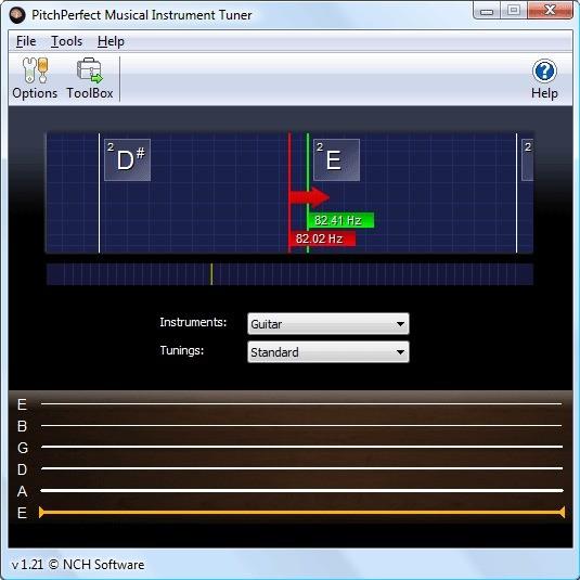 Screenshot 1 - PitchPerfect Gitarrenstimmer