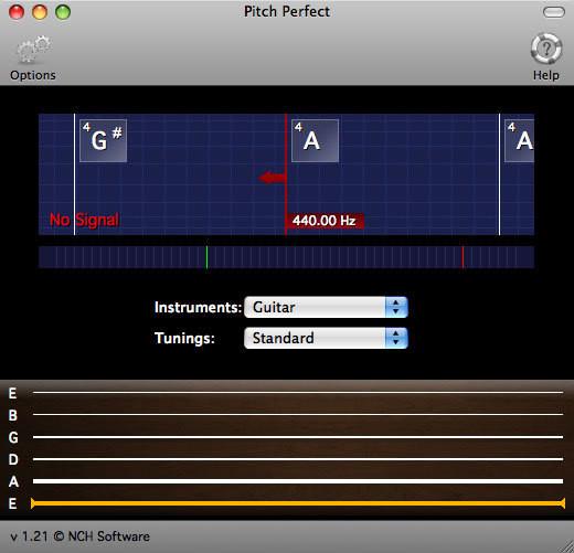 Screenshot 1 - PitchPerfect Gitarrenstimmer (Mac)