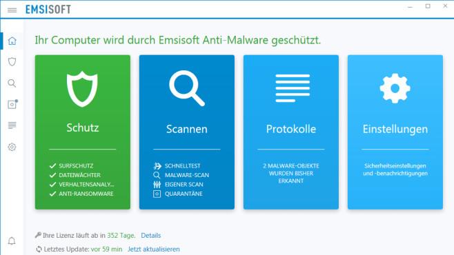 Emsisoft Anti-Malware: Antivirusprogramm mit Dual-Engine ©COMPUTER BILD