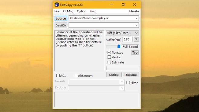 FastCopy: Dateien kopieren ©COMPUTER BILD