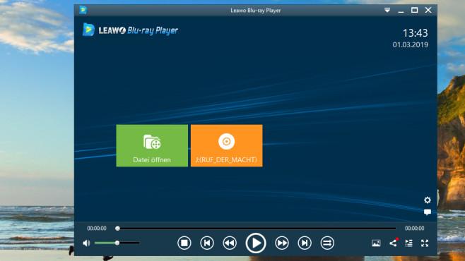 Leawo Blu-ray Player: Geschützte Blu-rays gratis ansehen ©COMPUTER BILD