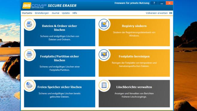 Secure Eraser: Dateien ohne Reste löschen ©COMPUTER BILD