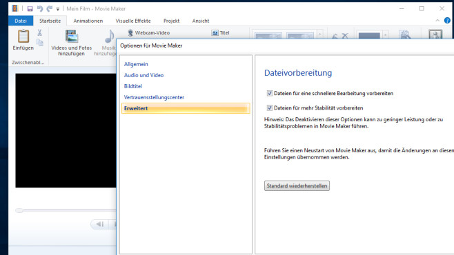 Windows Movie Maker: Videoeditor ©COMPUTER BILD