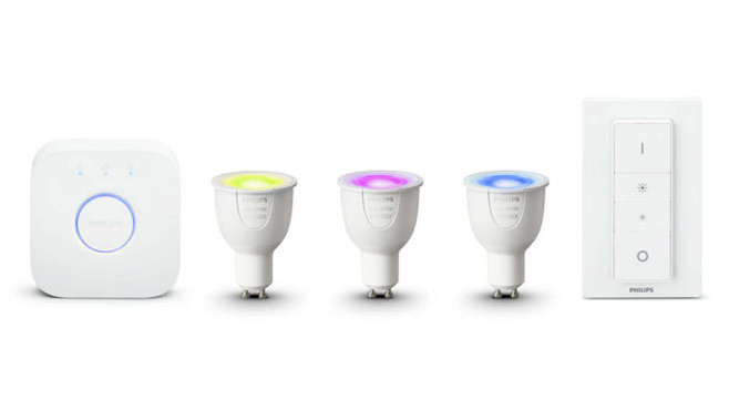 Philips Hue White and Color Ambiance Starter Kit GU10 © Philips Lighting / Signify