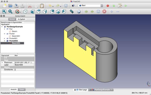 Screenshot 1 - FreeCAD (Mac)