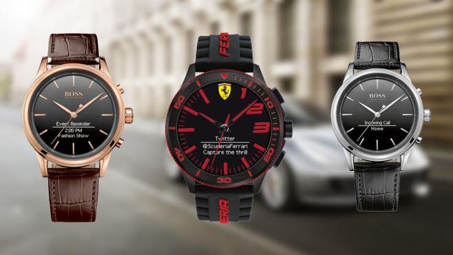 HP Smartwatches©Boss, Ferrari, HP, Movado