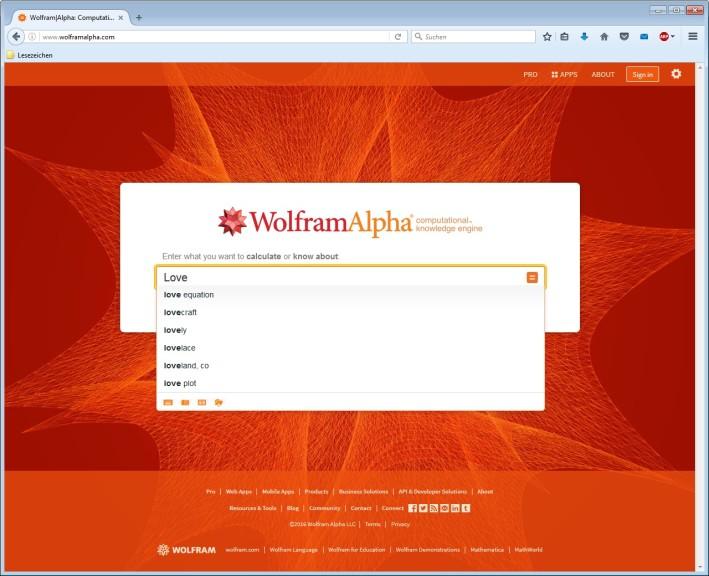 Screenshot 1 - Wolfram Alpha