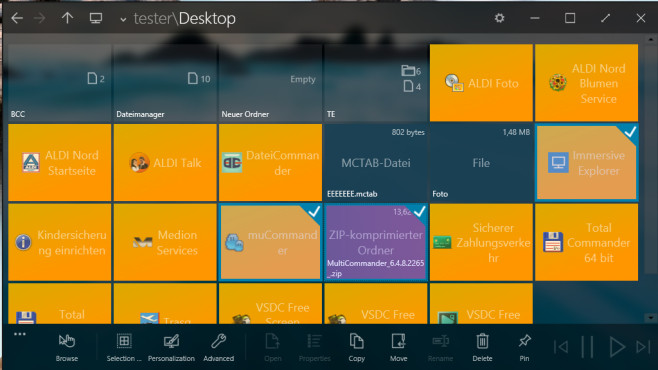 Immersive Explorer: Dateien verwalten mit Kacheln ©COMPUTER BILD