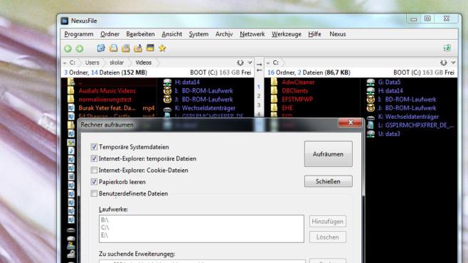 NexusFile: Zweifenster-Tab-Helfer zum Schrubben ©COMPUTER BILD