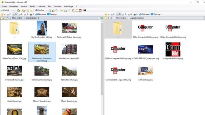 Nomad.NET: Dateimanager mit Backup ©COMPUTER BILD
