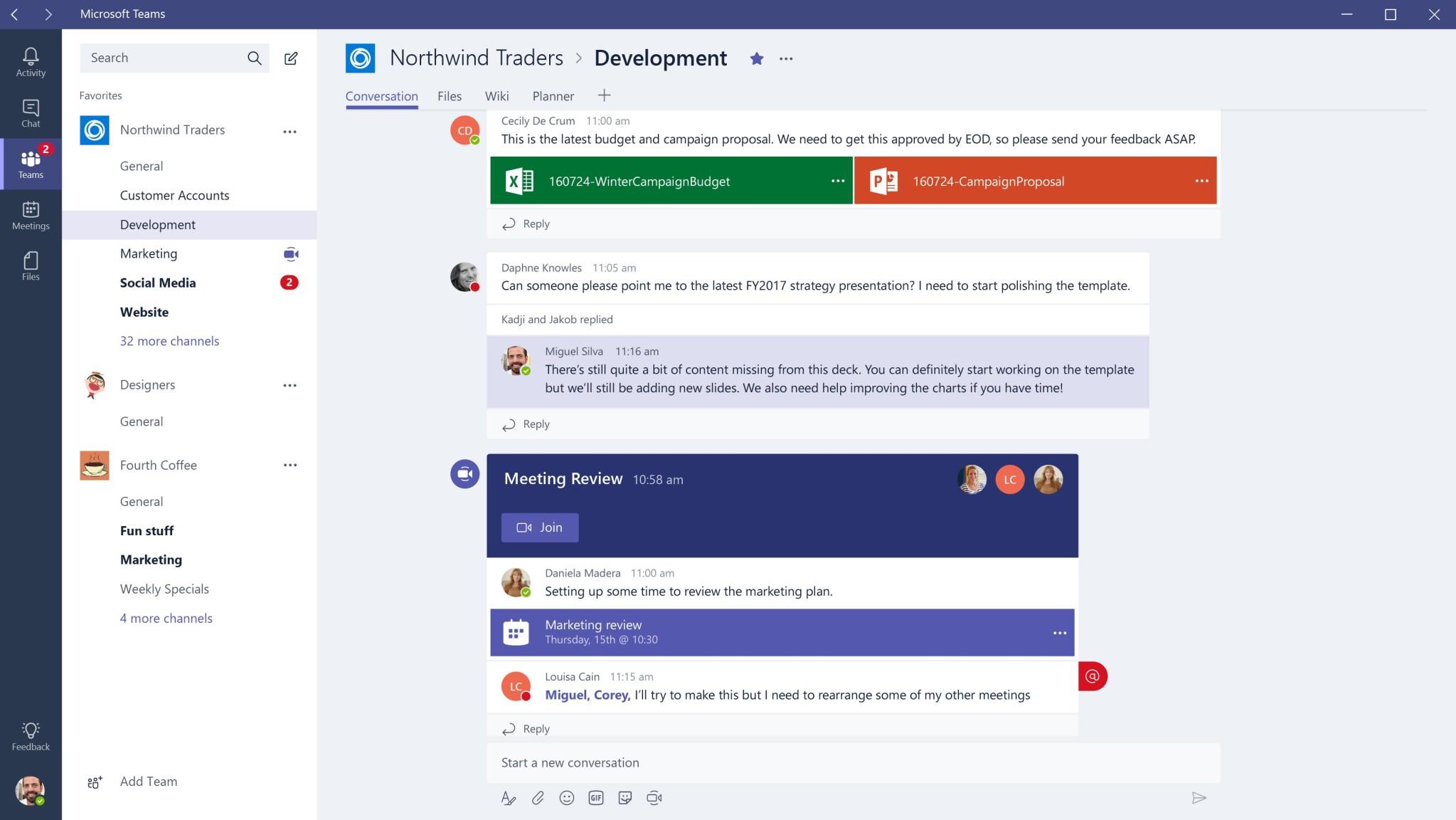 Screenshot 1 - Microsoft Teams