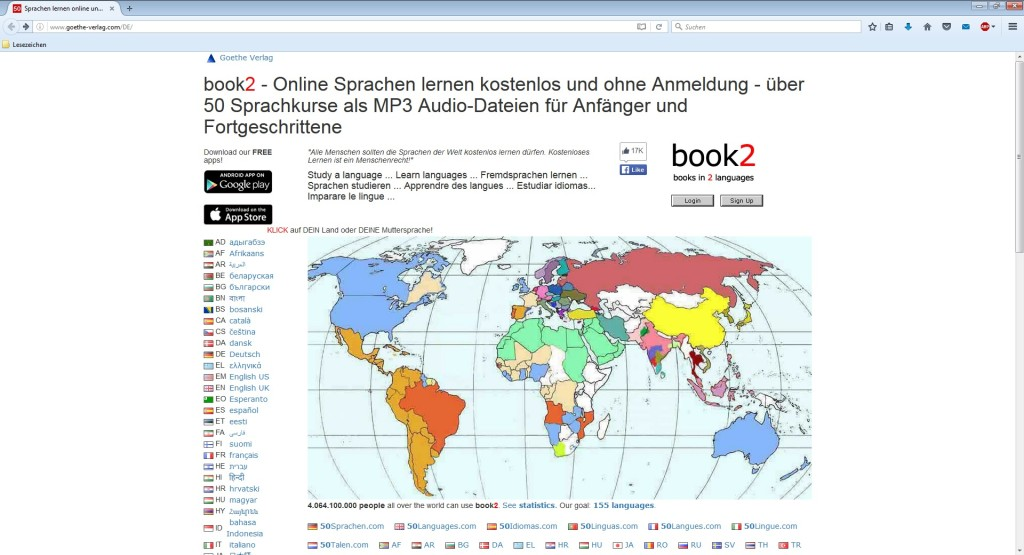 Screenshot 1 - Goethe Verlag: Sprachkurse als MP3 herunterladen