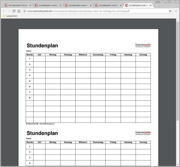 Stundenplan-Vorlagen in Word, Excel & als PDFs - Download - COMPUTER ...