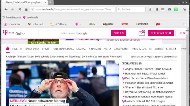 T-Online.de Browser ©COMPUTER BILD
