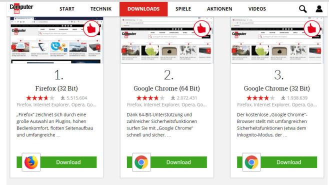 Test: Ressourcenverbrauch von Browsern ©COMPUTER BILD