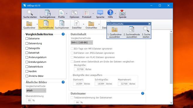 AllDup: Dateidoppelgänger per Inhaltsvergleich finden ©COMPUTER BILD