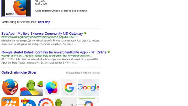 Google Bildersuche: Ähnliche Motive entdecken ©COMPUTER BILD
