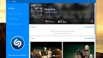 Shazam (App für Windows 10 & 8): Musiktitel anhand des Tons anzeigen©COMPUTER BILD
