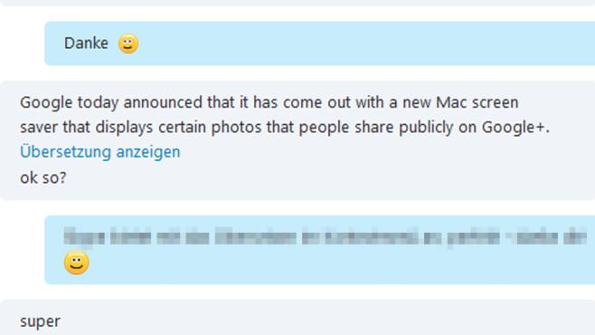 Skype: Chat-Unterhaltungen übersetzen ©COMPUTER BILD