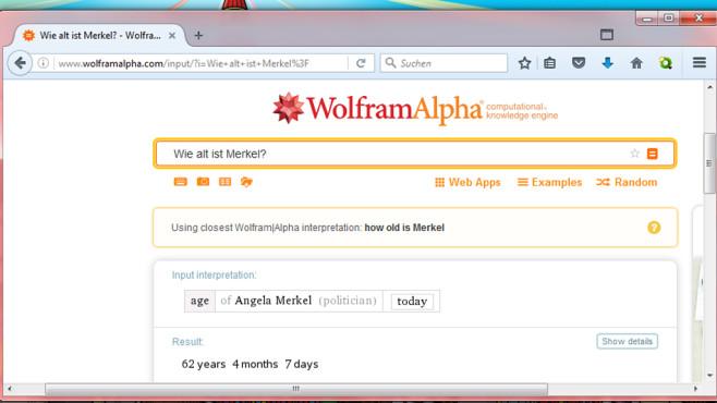 Wolfram Alpha: Wissensdatenbank, die Sprache versteht ©COMPUTER BILD