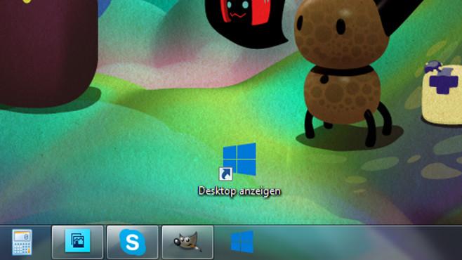 Desktop-anzeigen-Icon einbringen ©COMPUTER BILD