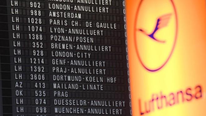 Lufthansa-Pilotenstreik©dpa-Bildfunk