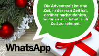 WhatsApp-Adventsspruch © WhatsApp, MK-Photo – Fotolia.com