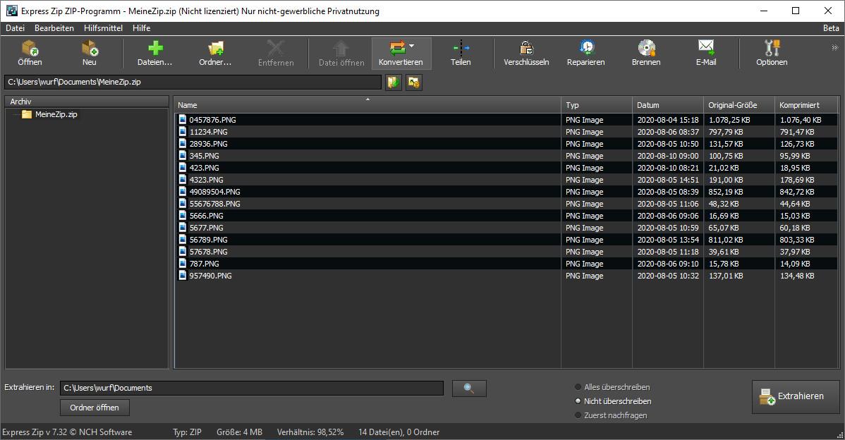 Screenshot 1 - Express Zip