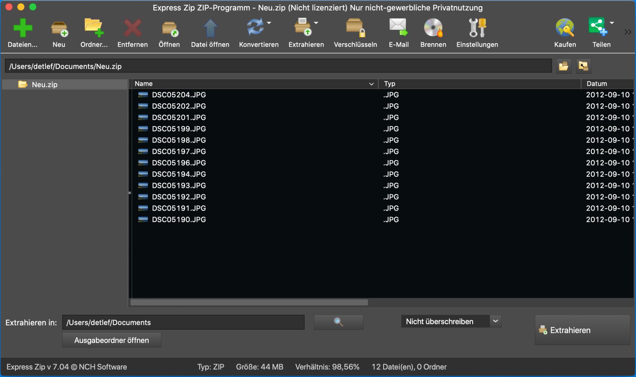 Screenshot 1 - Express Zip (Mac)