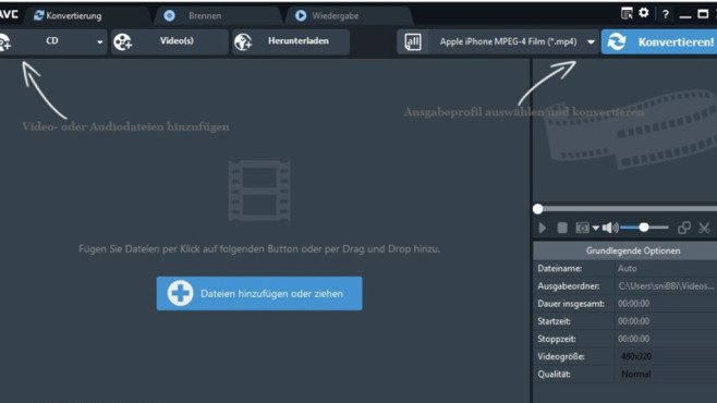 Platz 30: Any Video Converter (neu) © COMPUTER BILD