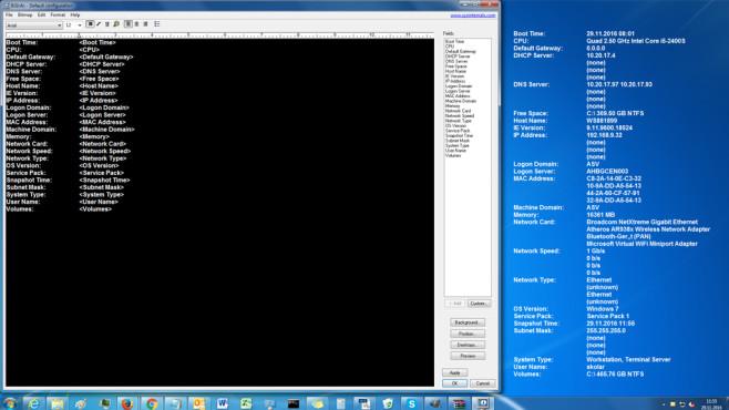 BGInfo: Wichtige PC-Infos auf dem Desktop einblenden Weiß Bescheid: Abgesehen von Angaben zur IE-Versionsnummer stimmen die Aussagen von BGInfo in der Regel.©COMPUTER BILD