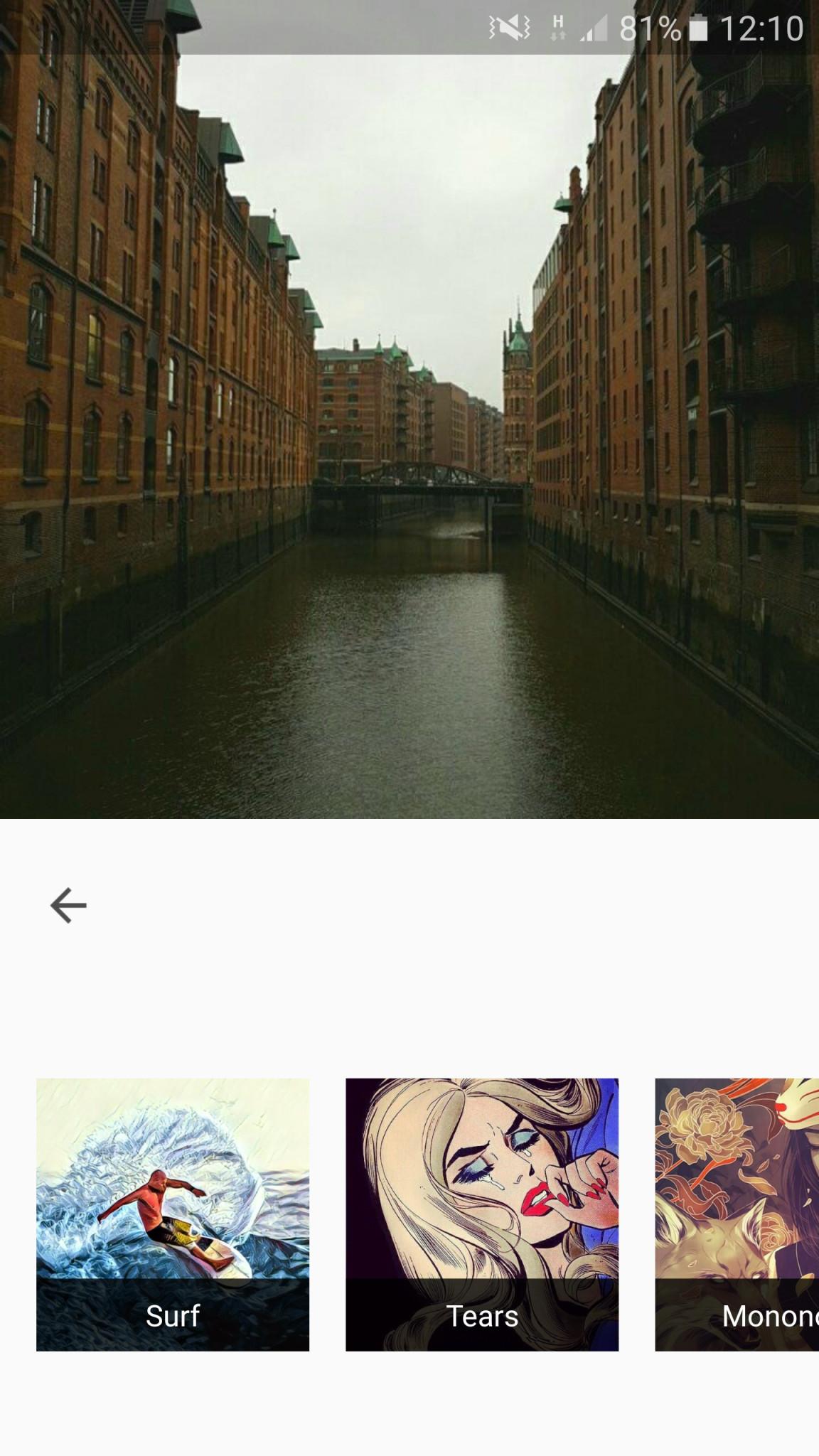 Screenshot 1 - Prisma (APK)